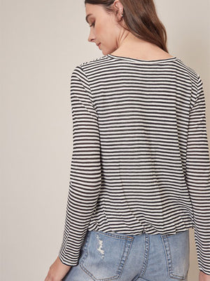 Birdie Striped Long Sleeve Top