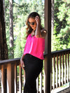 Time for Love Lace Cami - Neon Pink