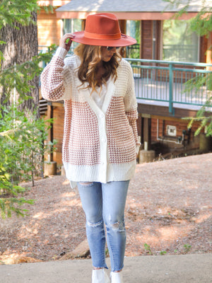 'Fall' In Love Colorblock Cardigan