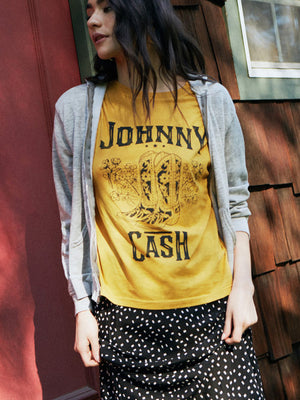 Johnny Cash Boots Boyfriend Tee