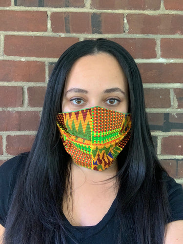 Bright African Print Face Mask