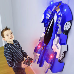 Wall-Climbing LED RC Car
