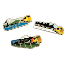 Scenic Trains Magnetic Badges