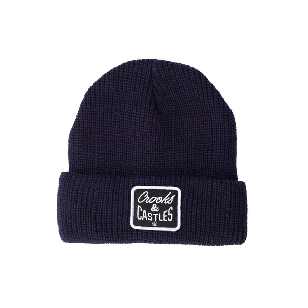 Reverse Core Patch Beanie (Navy)
