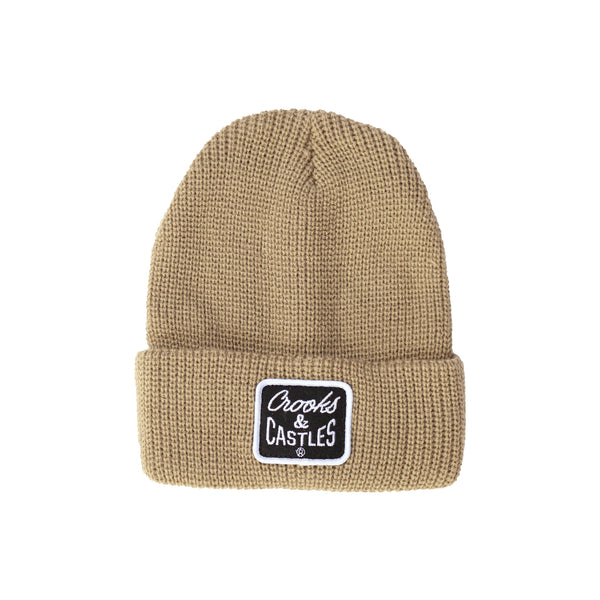 Reverse Core Patch Beanie (Olive)