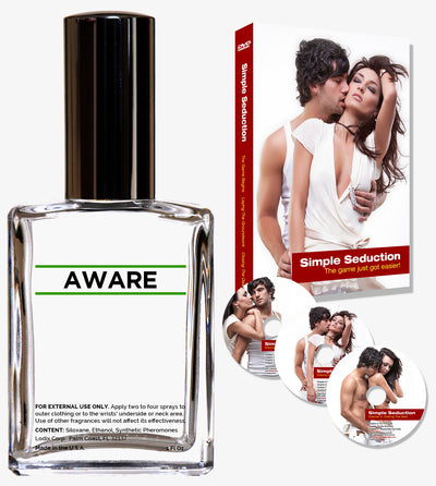Order the The Aware Enhancer Kit for 20% OFF the normal price. This includes one bottle of Aware confidence enhancer and our best selling, Simple Seduction DVD Series ... 3 DVDs with can't miss tips and techniques designed to help you seduce women.