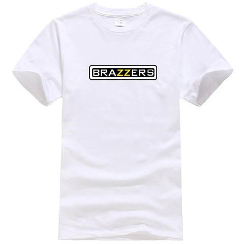 2018 New Summer Streetwear Brazzers Printed Men Fashion T-shirt Short sleeve O-neck Harajuku Summer Pure Color Casual Men Tees