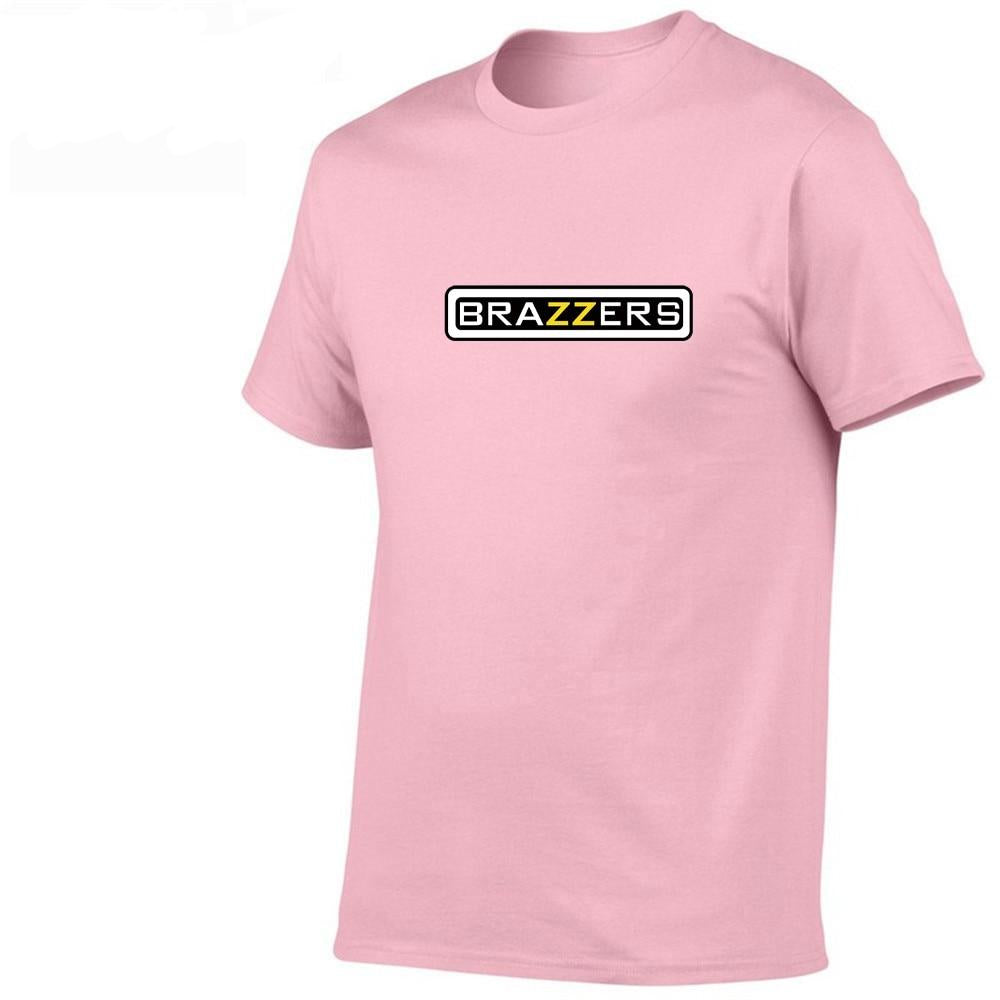 2019 Men's Brazzers Harajuku Funny Black Cotton T-shirts Men and Women Summer Cotton Streewear Man Hub Clothes