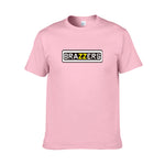 Fashion  Men T-Shirts Brazzers letter Printed T shirt Homme Summer Short Sleeve T Shirts Brand Men's Tee Shirts Man Clothes