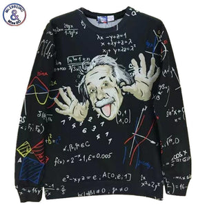 Mr.1991INC Math science hoodies for boy Graphic 3d sweatshirts men/women funny print Einstein hoodie casual tops G1860-noashe