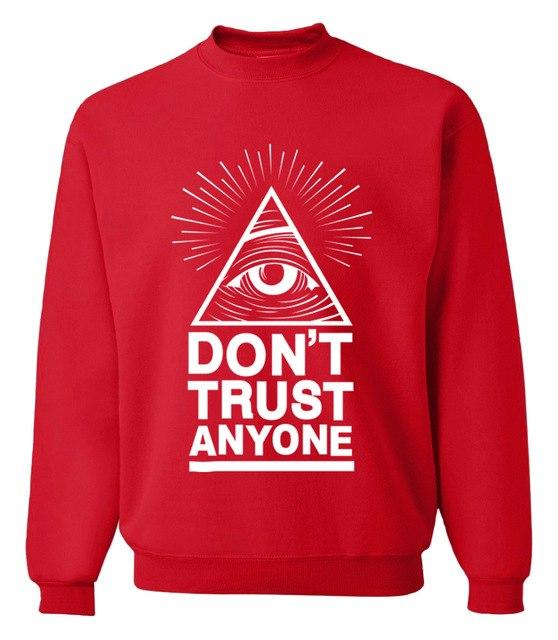 Dont Trust Anyone all seeing eye letters 2017 spring winter fashion men sweatshirts streetwear hoodies tracksuit brand clothing-noashe