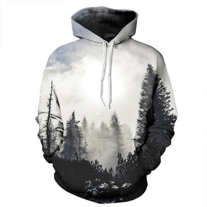 Mr.1991INC New Fashion Autumn Winter Men/women Thin Sweatshirts With Hat 3d Print Trees Hooded Hoodies Tops Pullovers-noashe
