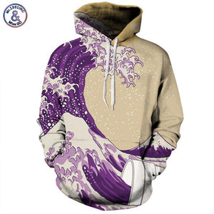 Mr.1991INC Hot Sale Hoodies Men/Women 3d Sweatshirts Print Sea Waves Unisex Thin Pullovers Tracksuits Tops Hooded Hoodies-noashe