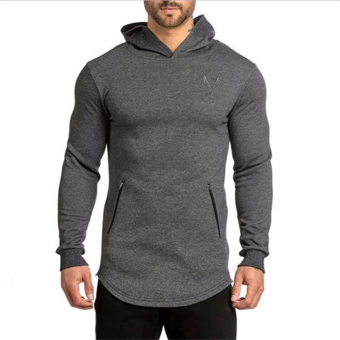 2016 New Arrival ASRV Men's Long Hoodies Hooded Pullovers Casual Sweatershirt Fitness Clothing Men Sweatshirt Hooded Muscle Coat