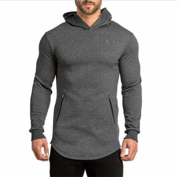 2016 New Arrival ASRV Men's Long Hoodies Hooded Pullovers Casual Sweatershirt Fitness Clothing Men Sweatshirt Hooded Muscle Coat-noashe