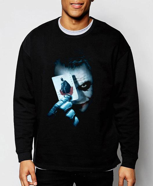 Joker Heath Ledger Batman 2 The Dark Knight Rises 2017 new spring winter fashion men sweatshirt hoodie cool streetwear tracksuit-noashe