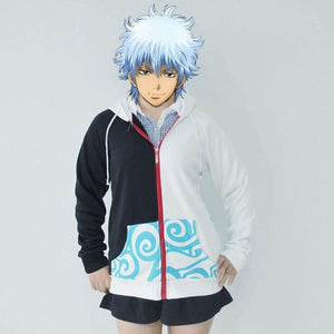Anime Silver Soul Cosplay Costumes Hoodies Gintama Sakata Gintoki Hooded Coats Unisex Casual Sweatshirt Jackets-noashe