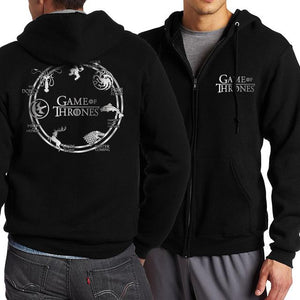 New Hot 2017 Spring Autumn Game of Thrones House Stark Zipper Hoodies Men Sweatshirts Fashion Men's Sportswear Coat Kpop Hoody-noashe