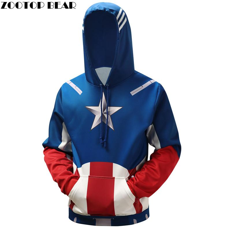 Captain America Hoodies Men Hooded Sweatshirts Superhero 3D Print Quality Pullover Plus 6XL Casual Fashion Tracksuit Streetwear-noashe