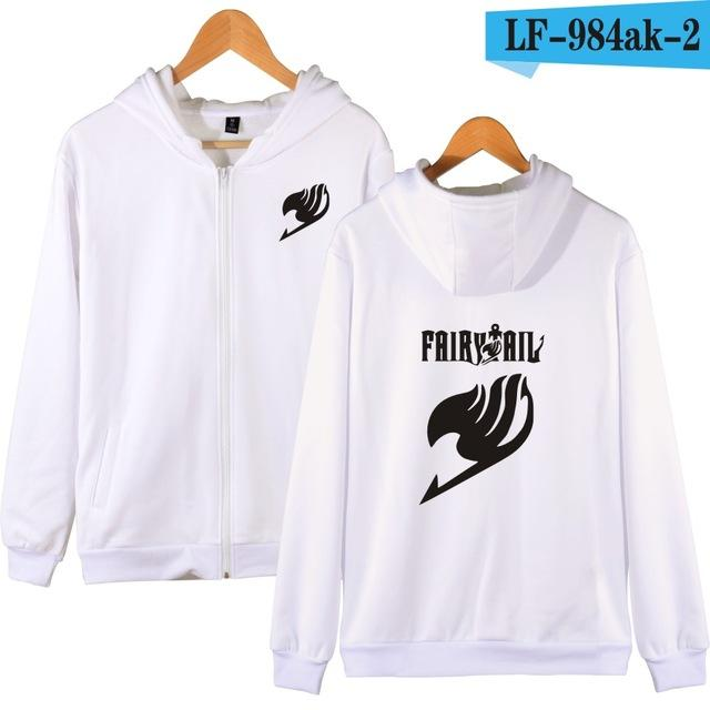Fairy Tail Cartoon Hooded Sweatshirts Men Zipper Hoodies Classic Japanese Anime Coats Fashion Hoodies Boys Winter Casual Clothes-noashe