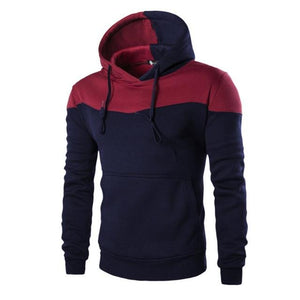 Hoodies Men 4 Color Stitching Hedging Hoodie Sweatshirt Slim Men Hoody-noashe