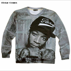 PLstar Cosmos New Pop Punk Hip hop Dizzy Arts Wiz Khalifa 3D Sweatshirt Women/Men Pullovers hoodies Outerwear casual loose tops-noashe