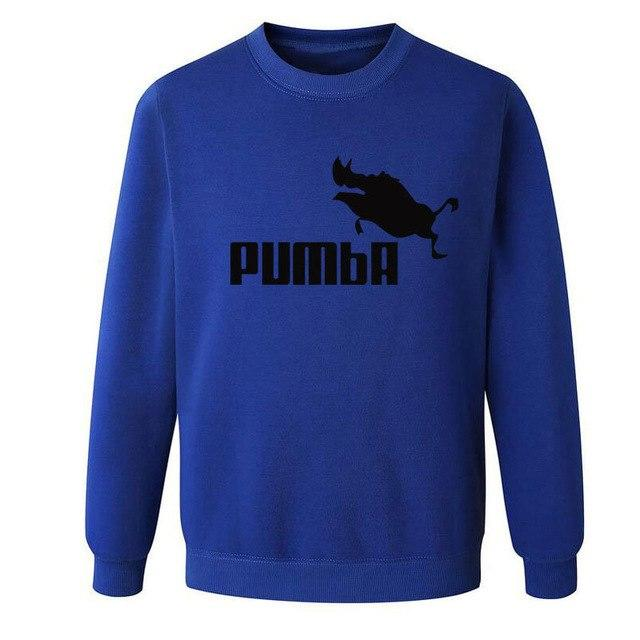 Eqmpowy 20176 Pumba Black Hooded Sweatshirt with Hoodies Men Brand in Mens Hoodies and Sweatshirts clothing-noashe