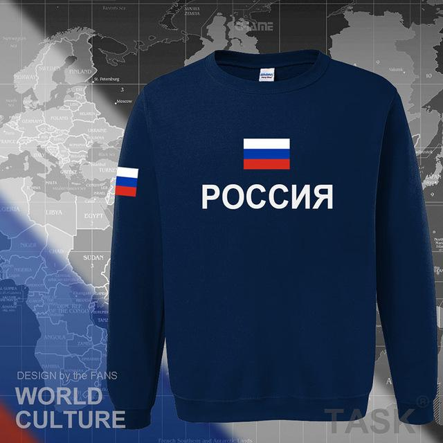 russia hoodies men sweatshirt sweat new streetwear clothing jerseys cotton footballer tracksuit nations russian flag fleece RU-noashe