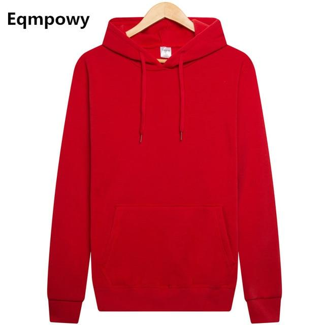 Eqmpowy 2017 New brand Hoodie Streetwear Hip Hop Solid pink Black gray Hooded Hoody Mens Hoodies and Sweatshirts Size XXL-noashe