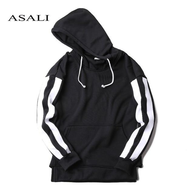 ASALI Hip Hop Street wear Brand Clothing Autumn Winter Men hoodie Cotton Fleece Male Pullover Tracksuit Mens Crewneck Sweatshirt-noashe