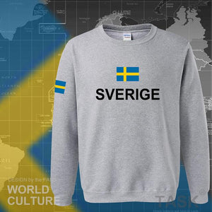 Sweden hoodies men sweatshirt polo sweat new hip hop streetwear clothing jerseys 2017 tracksuit nation Swedish flag SE Sverige-noashe