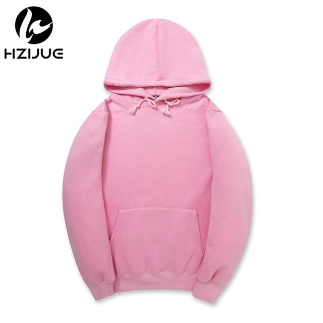 Fashion Color Hooides Men's Thick Clothes Winter Sweatshirts Men Hip Hop Streetwear Solid Fleece Hoody Man Clothing USA SIZE-noashe