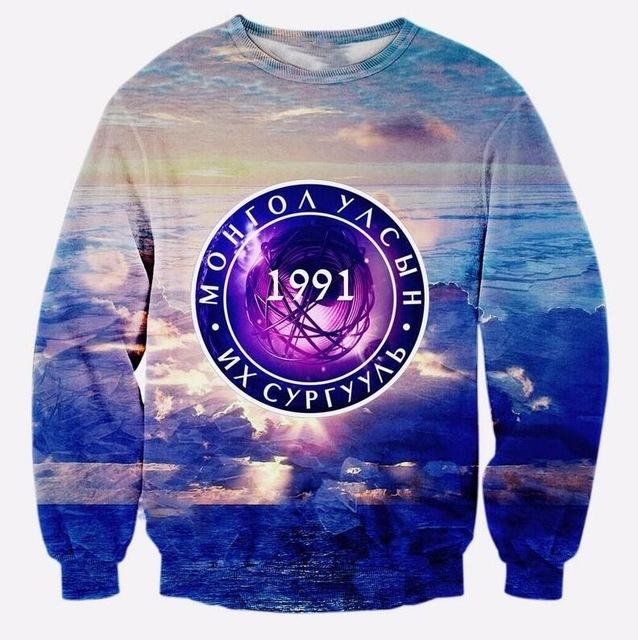 Cloudstyle Top Fashion Selling 3d Sweatshirt Man Casual Full Sleeve Sweatshirts Funny Print Sportwear Plus Size 5XL-noashe