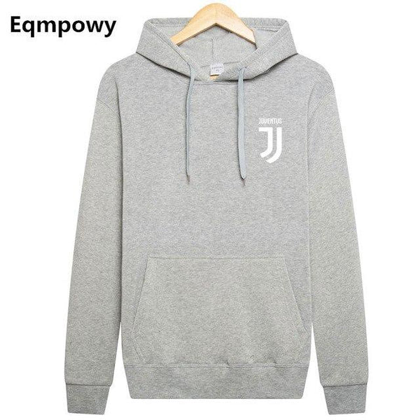 Eqmpowy Juventus Print Hoodies Men 2017 Autumn Winter Men Women Fleece Long Sleeve Sportswear pullover Hooded Sweatshirt-noashe