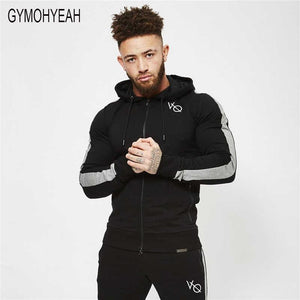 GYMOHYEAH 2018 New Men's fitness Hoodies Crossfit pullover Zipper jacket Sweatshirts Bodybuilding sportswear fashion hoodies-noashe
