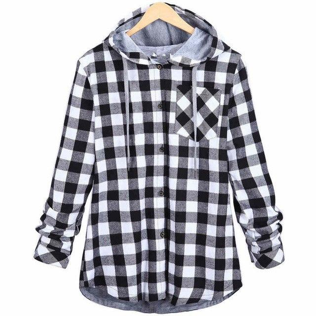 New Fashion Spring Kanye West Grid Style Hip Hop Plaid Shirt Men Swag Clothing Loose Hipster Longline Hooded Chemise Homme-noashe