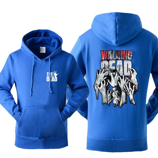New Arrival Hoody For Men Sweatshirt 2017 Autumn Winter Fleece Warm Sweatshirts The Walking Dead Print Hip Hop Punk Harajuku Hot-noashe