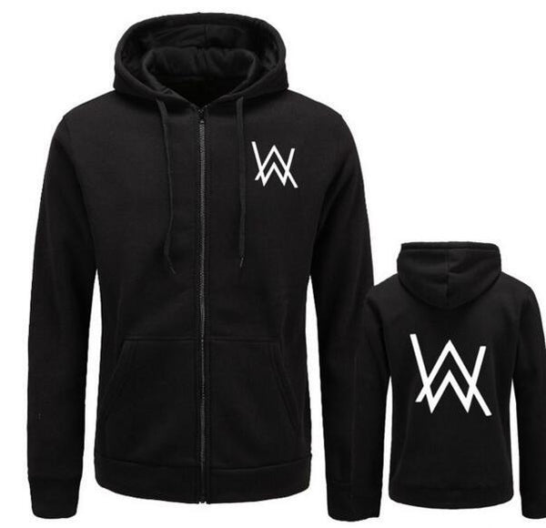 2017Mens Hoodies Sweatshirts Music DJ Comedy Alan Walker Hip Hop Hoodie Black Jacket Men Clothes Fashion Hooded Hombre-noashe