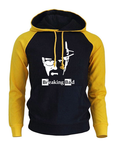 BREAKING BAD Print Streetwear 2017 Men's Hoodies Autumn Winter Raglan Hoody Sweatshirt Brand Sportswear Harajuku Fleece Pullover