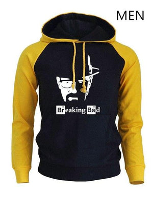 BREAKING BAD Print Streetwear 2017 Men's Hoodies Autumn Winter Raglan Hoody Sweatshirt Brand Sportswear Harajuku Fleece Pullover-noashe