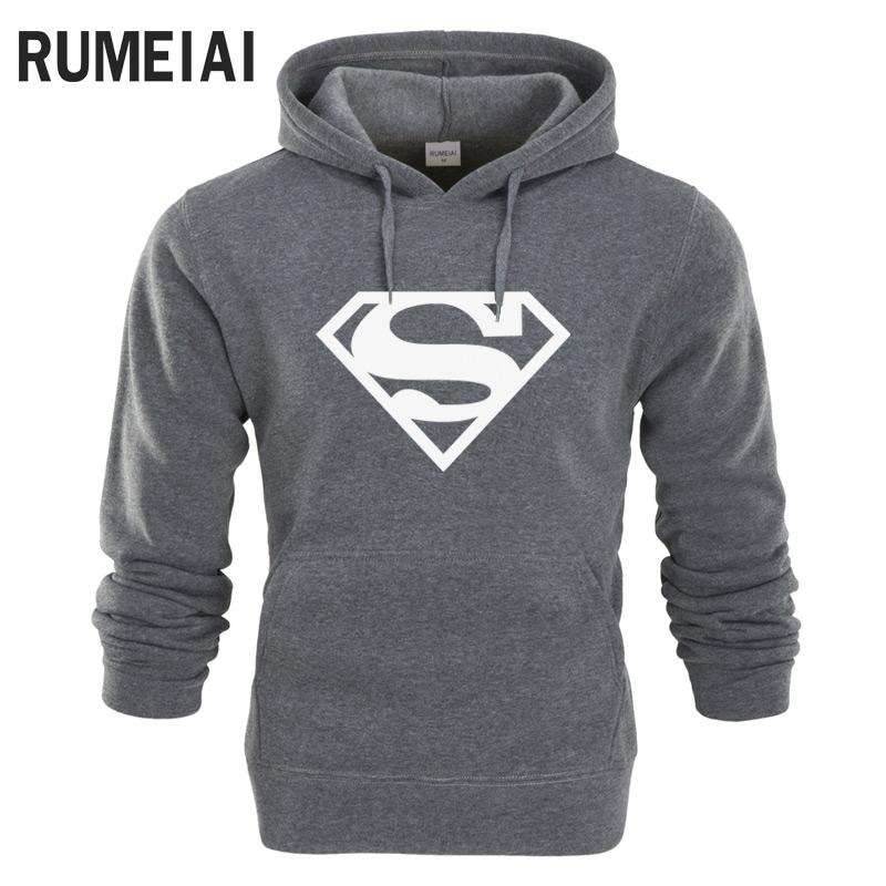 RUMEIAI New Superman Hoodie Batman Hooded Men Casual Cotton Fall / Winter Warm Sweatshirts Men's Casual Tracksuit Costume-noashe