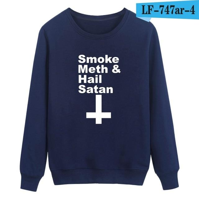 Satan Printing Winter Warm Casual Style Fashion Sweatshirt And Cool Hoodies Men Brand Designer Mens Sweatshirt With Plus Size-noashe