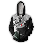 2017 new fashion Cool sweatshirt Hoodies Men women 3D print NARUTO KAKASHI SHARINGAN ZIP UP hot Style Streetwear Long sleeve-noashe