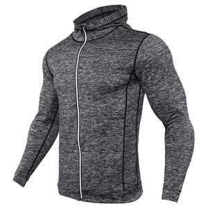 Fashion Men Hoodies Compression Hoody Crossfit Sweatshirts Mens Quick-drying Jersey Male Breathable Exercise Hooded Jacket Coat-noashe