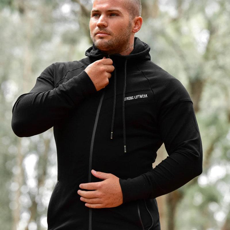 2017 new Mens zipper Hoodies Fashion Casual Hooded jacket Man winter Gyms workout fitness Sweatshirts Brand sportswear clothing-noashe