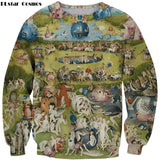 PLstar Cosmos Garden Sweatshirt EUR Religion Art Painting Print 3D Sweatshirt Fashion Men Women Long Sleeve Outerwear