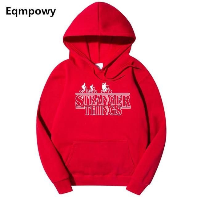 2018 Trendy Faces Stranger Things Hooded Mens Hoodies and Sweatshirts Oversized for Autumn with Hip Hop Winter Hoodies Men Brand-noashe