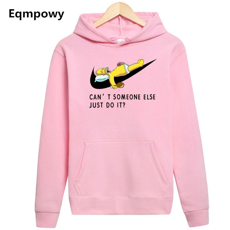 Eqmpowy2018 Casual long sleeve hoodie sweatshirt polerones hombre Pink black Hip Hop just do it Hoodies Men women funny Hoodie-noashe