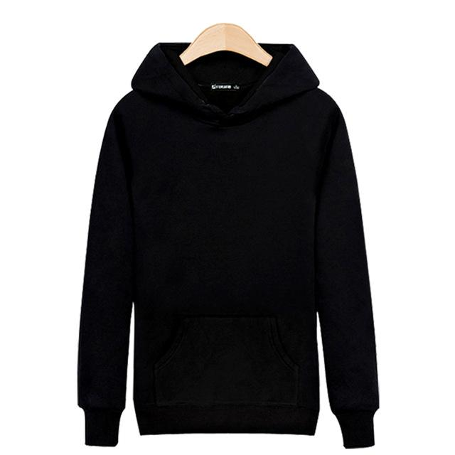 LUCKYFRIDAYF High Quality Solid Color Hooded Sweatshirt Men Hip Hop Fashion Black Gray Clothes Autumn Winter Hoodies Men Casual-noashe