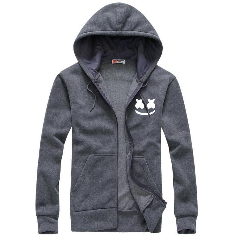 2017 New brand marshmello face Hoodies men Casual Slim Fit Hoodies Sweatshirt Sportswear Male Fleece Hooded Jacket-noashe